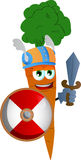 Viking carrot with sword Royalty Free Stock Photos