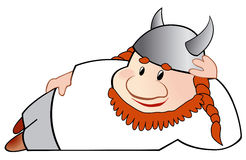 Viking cartoon illustration Royalty Free Stock Image