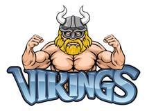 Viking Cartoon Sports Mascot royaltyfri illustrationer