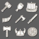 Viking cartoon stickers Royalty Free Stock Photo