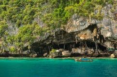 Viking Cave,krabi thailand Stock Photos