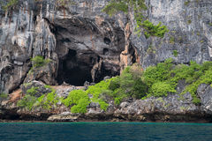Viking Cave on Phi Phi Lee island,  Thailand Royalty Free Stock Photography
