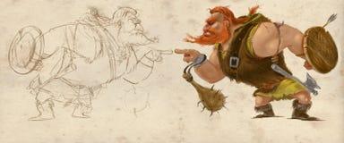 Viking Character hand drawn Royalty Free Stock Images