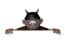 Viking character with helmet - 3d rendering Stock Photo