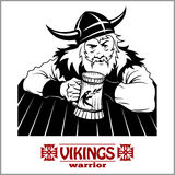 Viking The cheerful Viking with beer mug in hand Stock Images