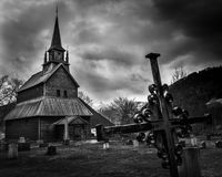 Viking Church, Kaupoanger Stave Church Imagem de Stock Royalty Free