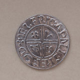Viking coin. Modern replica based on archaeological findings Royalty Free Stock Image