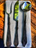 Viking cutlery Royalty Free Stock Images