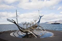 Viking łódź Obrazy Royalty Free