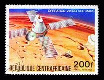 Viking, das auf Mars, Viking Program-serie, circa 1976 absteigt lizenzfreie stockbilder