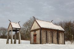 Viking-Daubenkirche von Moesgaard Lizenzfreies Stockbild