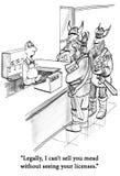 Viking-de klanten willen weide kopen royalty-vrije illustratie