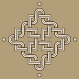 Viking Decoration Knot - grabado - los cuadrados de Chaned arrastra el marco Dot Corners imágenes de archivo libres de regalías