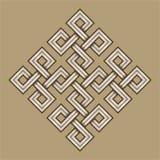 Viking Decorative Knot - grabado - cuadrados entretejidos foto de archivo
