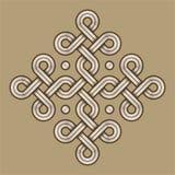 Viking Decorative Knot - grabado - Ring Cross foto de archivo libre de regalías