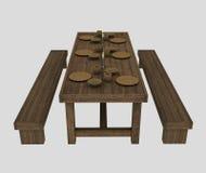 Viking dining table Stock Image