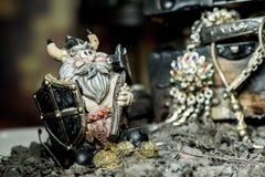 Viking e tesouro fotografia de stock