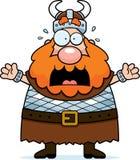 Viking effrayé illustration de vecteur