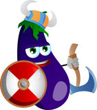 Viking eggplant with axe Stock Images