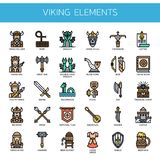 Viking Elements , Pixel Perfect Icons Stock Images