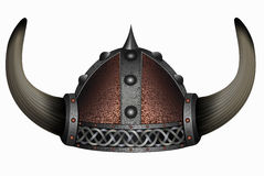 Viking em capacete horned Homem da máscara Imagem de Stock Royalty Free