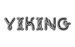 Viking-embleem die Keltische doopvont van letters voorzien norse middeleeuws ornament ABC Stock Fotografie