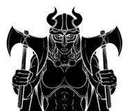Viking Female Gladiator Warrior Woman Team Mascot royalty illustrazione gratis