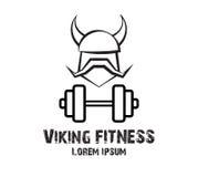 Viking Fitness Logo Design Immagine Stock Libera da Diritti