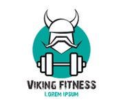 Viking Fitness Logo Design Immagine Stock