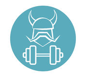 Viking Fitness Logo Design Photo stock
