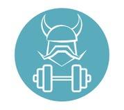 Viking Fitness Logo Design Fotografia Stock