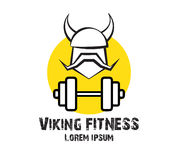 Viking Fitness Logo Design Photos stock