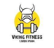 Viking Fitness Logo Design Fotografie Stock