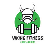 Viking Fitness Logo Design Fotografia Stock Libera da Diritti
