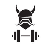 Viking Fitness Logo Design Image libre de droits