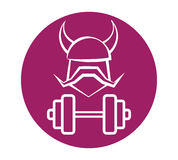 Viking Fitness Logo Design Images stock
