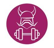 Viking Fitness Logo Design Immagini Stock