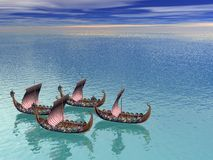 Viking Fleet 2 Royalty Free Stock Photos
