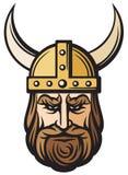 Viking głowa royalty ilustracja