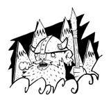 Viking geht durch die Nordberge Lizenzfreie Stockbilder