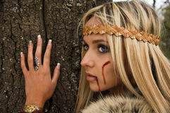 Viking girl Royalty Free Stock Images