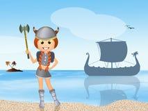 Viking girl Stock Image