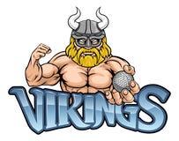 Viking Golf Sports Mascot vektor illustrationer