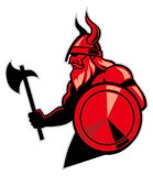 Viking-greep een bijl vector illustratie