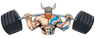 Viking Gym Mascot ilustración del vector