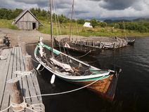 Viking harbour Royalty Free Stock Image