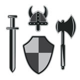 Viking harneskuppsättning Royaltyfri Bild