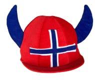 Viking hat. Isolated on white Royalty Free Stock Photo