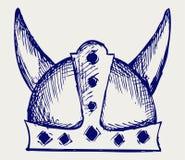Viking hełm royalty ilustracja