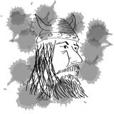 Viking Head abstracto ilustración del vector